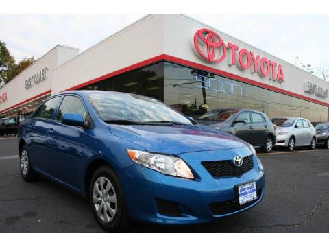 Blue Streak Metallic 2010 Toyota Corolla LE with Ash interior Blue Streak