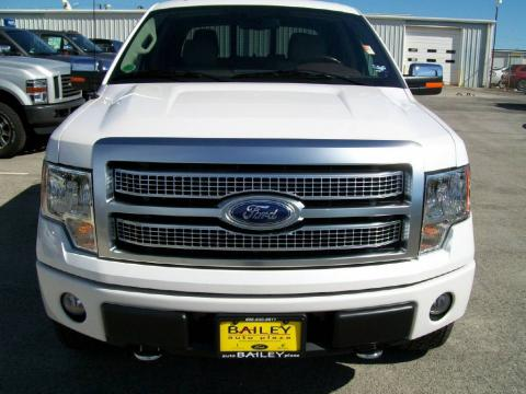 White Platinum Metallic Tri Coat Ford F150 Platinum SuperCrew 4x4.  Click to enlarge.