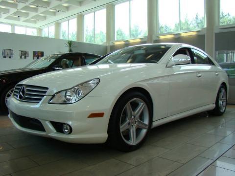Diamond White Metallic Mercedes-Benz CLS 550 Diamond White Edition.  Click to enlarge.