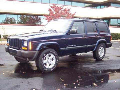 used 2001 jeep cherokee sport 4x4 for sale stock 01cherblue dealer car ad. Black Bedroom Furniture Sets. Home Design Ideas
