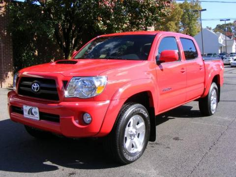 Radiant Red Toyota Tacoma V6 TRD Sport Double Cab 4x4. Click To Enlarge.