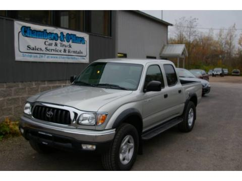 Lunar Mist Metallic 2004 Toyota Tacoma V6 Double Cab 4x4 with Charcoal