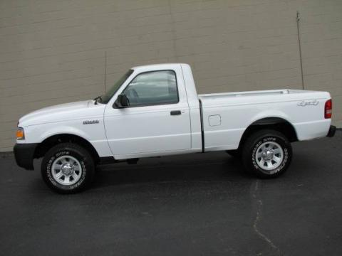 Oxford White 2006 Ford Ranger XL Regular Cab 4x4 with Medium Dark Flint