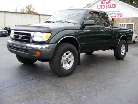 Imperial Jade Green Mica 2000 Toyota Tacoma SR5 Extended Cab 4x4 with Gray