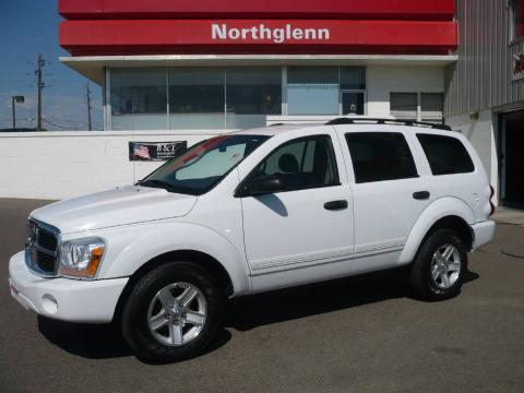 Bright White 2005 Dodge Durango SLT 4x4 with Medium Slate Gray interior