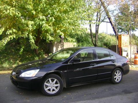 Nighthawk Black Pearl Honda Accord EX V6 Sedan. Click To Enlarge.