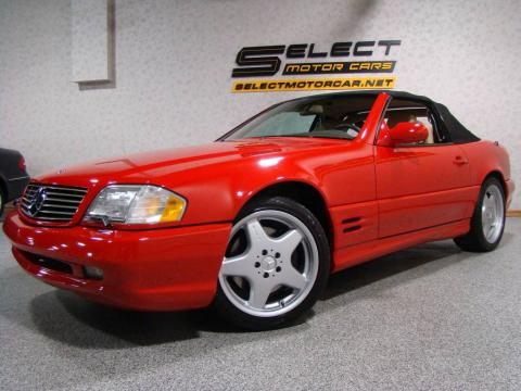 Magma Red 2001 Mercedes-Benz SL 500 Roadster with Shell interior Magma Red