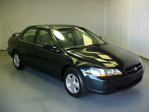 Good Dark Emerald Pearl Honda Accord EX V6 Sedan. Click To Enlarge.