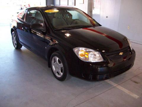 Black 2007 Chevrolet Cobalt LS Coupe with Gray interior Black Chevrolet