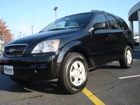 Ebony Black 2006 Kia Sorento EX with Beige interior Ebony Black Kia Sorento
