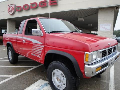 Aztec Red Nissan Hardbody Truck SE V6 Extended Cab 4x4.  Click to enlarge.