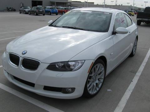 Alpine White 2007 BMW 3 Series 328i Coupe with Saddle Brown/Black interior