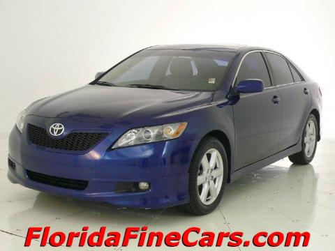 Blue Ribbon Metallic 2007 Toyota Camry SE V6 with Ash interior Blue Ribbon