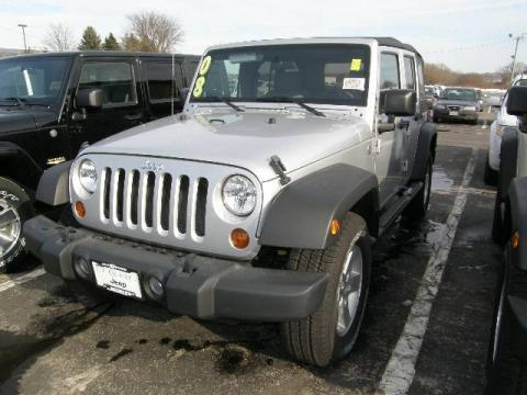 Bright Silver Metallic 2008 Jeep Wrangler Unlimited X 4x4 with Dark Slate