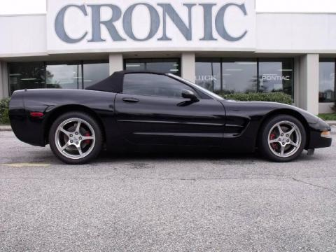 Black 2001 Chevrolet Corvette Convertible with Black interior Black