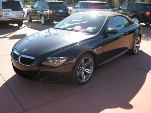 Black Sapphire Metallic 2007 BMW M6 Convertible with Indianapolis Red