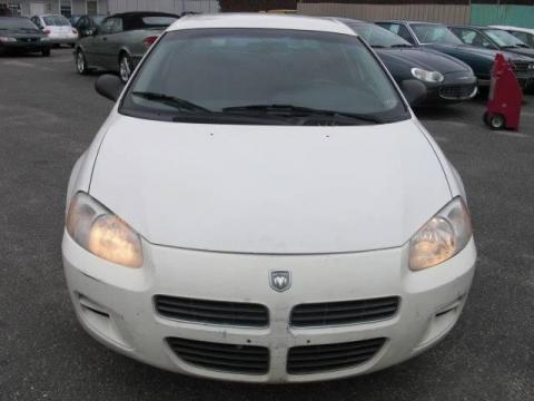 Stone White 2001 Dodge Stratus SE Sedan with Dark Slate Gray interior Stone