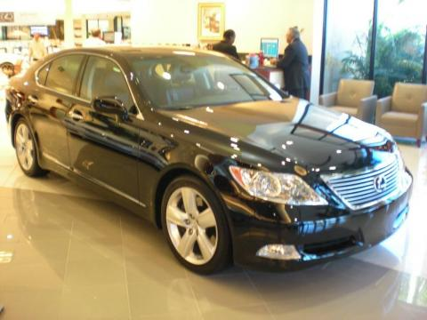 Obsidian Black 2009 Lexus LS 460 AWD with Black interior Obsidian Black