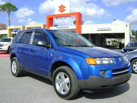 Electric Blue 2004 Saturn VUE V6 with Gray interior Electric Blue Saturn VUE