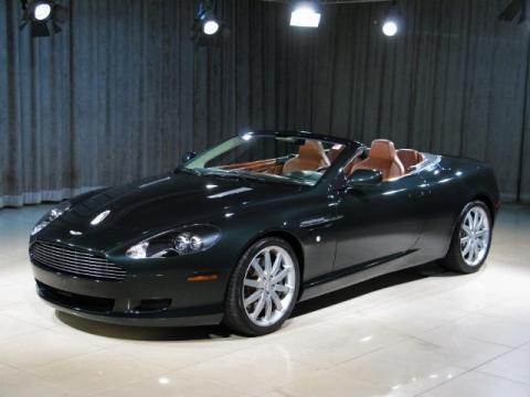 Ghillies Green 2006 Aston Martin DB9 Volante with Dark Tan interior Ghillies
