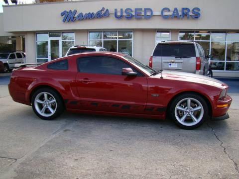 Dark Candy Apple Red Ford Mustang Racecraft 420S Supercharged Coupe.  Click to enlarge.