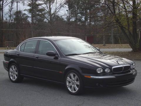 Ebony Black 2003 Jaguar X Type 3.0 With Charcoal Interior Ebony Black Jaguar