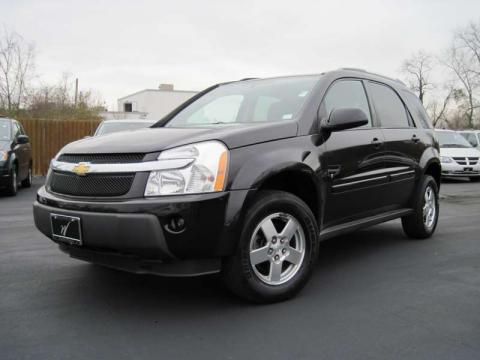 Black 2006 Chevrolet Equinox LT AWD with Light Cashmere interior Black