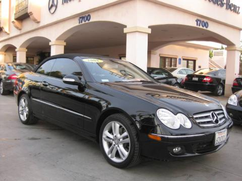 Black 2008 Mercedes-Benz CLK 350 Cabriolet with Black interior Black