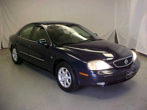 Medium Royal Blue Metallic 2001 Mercury Sable LS Premium Sedan with Dark