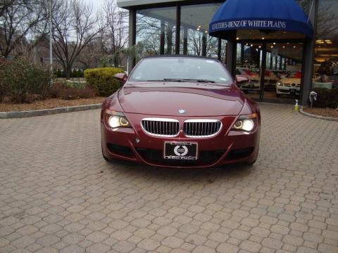 Indianapolis Red Metallic 2007 BMW M6 Convertible with Black interior
