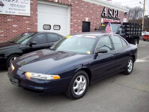 Midnight Blue Metallic 2000 Oldsmobile Intrigue GX with Dark Gray interior