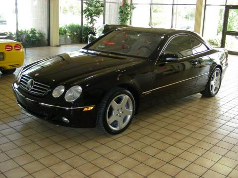Black Mercedes-Benz CL 600.  Click to enlarge.