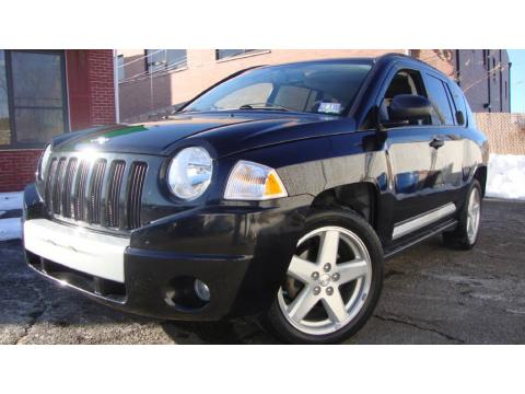 Black 2007 Jeep Compass Limited with Pastel Slate Gray interior Black Jeep