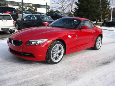 Crimson Red 2010 BMW Z4 sDrive30i Roadster with Black interior Crimson Red