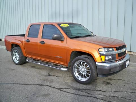 Sunburst Orange Metallic 2004 Chevrolet Colorado LS Extended Cab with Medium
