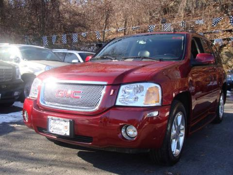 Red Jewel Metallic 2006 GMC Envoy Denali 4x4 with Ebony Black interior Red