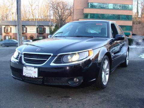 Jet Black Metallic Saab 9-5 2.3T Sedan.  Click to enlarge.