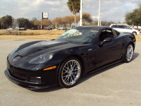 Black 2009 Chevrolet Corvette ZR1 with Ebony interior Black Chevrolet
