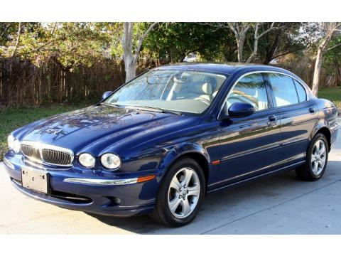Pacific Blue Metallic Jaguar X-Type 3.0.  Click to enlarge.