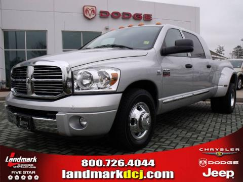 used 2007 dodge ram 3500 laramie mega cab dually for sale. Black Bedroom Furniture Sets. Home Design Ideas