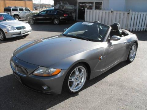 Sterling Grey Metallic 2003 BMW Z4 3.0i Roadster with Black interior