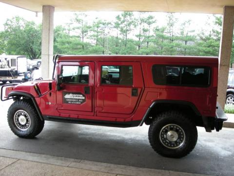Flame Red Pearl 2006 Hummer H1 Alpha Wagon with Ebony/Brown interior Flame