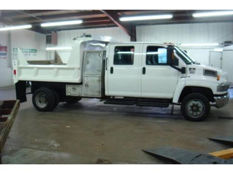 Summit White Chevrolet C Series Kodiak C4500 Crew Cab Utility Dump Truck.  Click to enlarge.