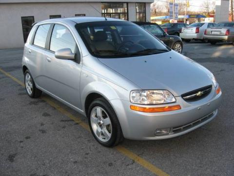 Cosmic Silver 2006 Chevrolet Aveo LT Hatchback with Charcoal interior Cosmic