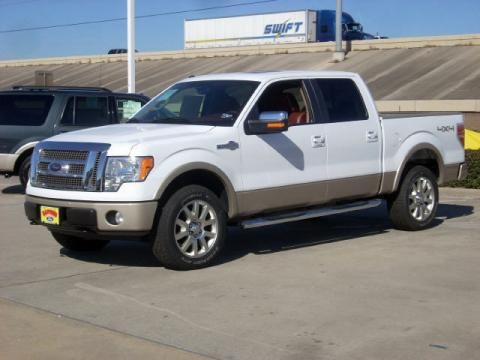 Oxford White 2009 Ford F150 King Ranch SuperCrew 4x4 with Chaparral