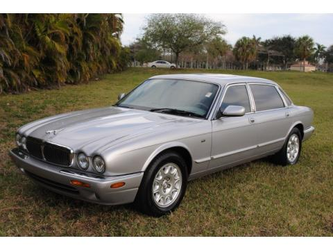 Platinum Silver Metallic Jaguar XJ XJ8 L.  Click to enlarge.