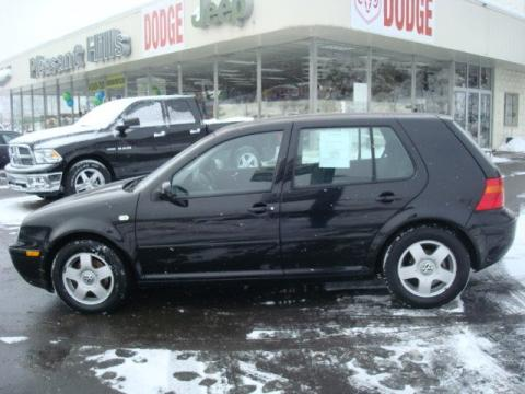Black Volkswagen Golf GLS 4 Door.  Click to enlarge.