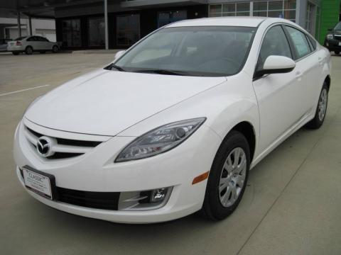 Performance White 2010 Mazda MAZDA6 i Sport Sedan with Black interior