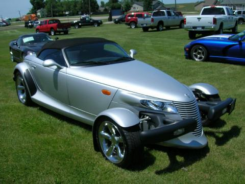 Prowler Bright Silver Metallic Plymouth Prowler Roadster.  Click to enlarge.