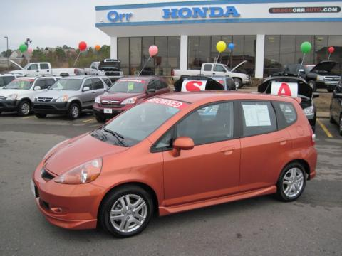 Used 2008 honda fit sport for sale stock 11825a for Orange honda fit
